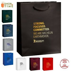 Custom Gloss Laminated Euro Tote Bag 8 X 10 X 4 Foil Stamp With Your Logo
