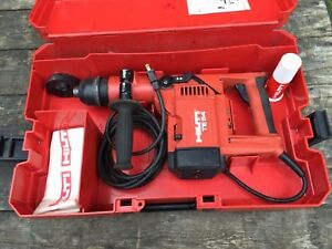 Hilti Te 54 Concrete Rotary Hammer Drill With Case Adapter Extension 7 Bits