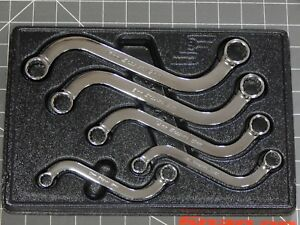 Snap On Metric S Shaped Double Box Wrench 5pc Set 10mm 19mm Sbxm605 Obstruction