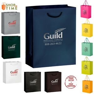 Custom Matte Laminated Euro Tote Bag 8 X 10 X 4 Foil Stamp With Your Logo
