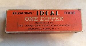 Vintage Ideal Reloading Tools Lyman One Dipper Empty Box