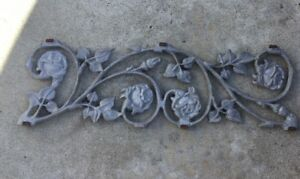 Vintage Aluminum Decorative Rose Panel