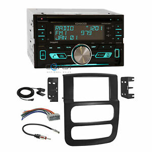 Kenwood Usb Sirius Bluetooth Stereo Dash Kit Harness For 02 05 Dodge Ram Truck
