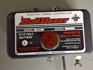Electric Fence Controller Bulldozer 4612 10 Miles 6 12 Volt Battery