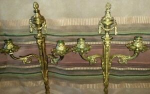 Pair Of Gilt Bronze Wall Sconces Empire Style