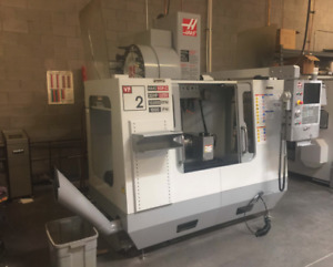 2008 Haas Vf 2d With 4th Axis Wireless Probe System Smtc Low Hours