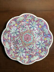 Authentic Late 19th C Antique Chinese Porcelain Famille Rose Bowl Qing Dynasty