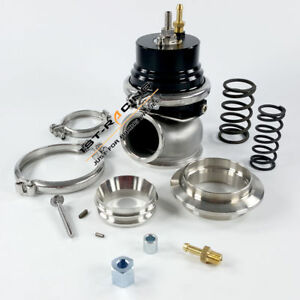 60mm Turbo External Turbocharger Wastegate Alloy Spring Clamp Flanges Kit New