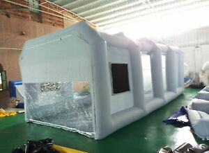 Usa 8x4x3m Commercial Inflatable Pvc Paint Booth Portable Car Spray Auto Tent