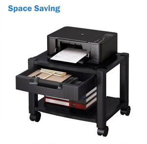 Under Storage Computer Mini Desk Pad Organizer Laser Printer Table Stand Shelf