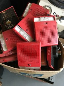 Lot Of 10 Est Edwards Ge Mirtone G4r s7vm Fire Alarm Speaker strobe