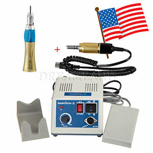 Marathon Micromotor Polisher electric Motor straight Handpiece Gold Xb n