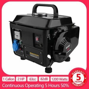 Gasoline Gas Generator 1200w Emergency Home Back Up Power Camping 2hp 2stroke