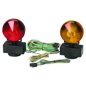 Magnetic Towing Tow Light Kit 12 Volt Trailer Rv Dolly Boat Free Shipping