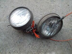 Farmall Cub 154 Tractor Pair Of 2 Aftermarket Working Front Ih 6v Lights Light