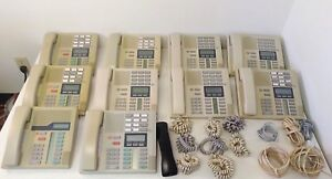 Lot Of 10 Northern Telecom M7310 Meridian norstar Telephones W Ethernet Cables