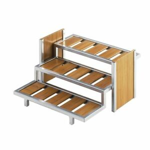 Cal mil Eco Modern Bamboo Condiment Holder 14 l X 13 1 2 w X 7 1 4 h
