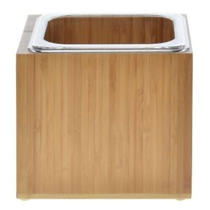 Cal mil Ice Display With Liner Bamboo Collection 1 6 Size 7 l X 6 w X 6 h