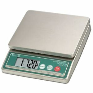 Taylor 10 Lb Stainless Steel Waterproof Digital Portion Control Scale 10 1 4 l