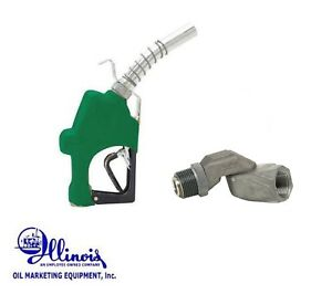 Husky 045710n 03 1 Diesel Highflow Nozzle 1gs Green W 1 Fuel Swivel 0087