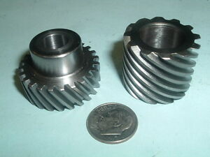 Model Hit And Miss Gasoline Engine Helical Side Shaft Gear Set 12 24 Teeth