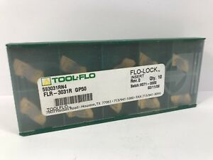 Tool flo Flr 3031r New Carbide Inserts Grade Gp50 9pcs As