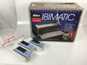 Ibico Ibimatic Paper Punch Binding Machine 27110 With Box 3 Packs Of Gbc Combs
