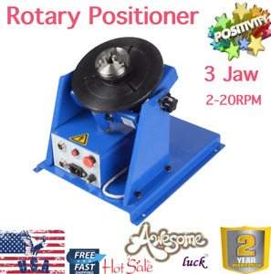 3 Jaw Lathe Chuck Rotary Welding Welder Positioner Turntable 10kg 2 20rpm 110v