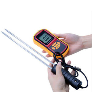 Gm640 5 30 Digital Grain Moisture Meter Temperature Tester Damp Detector