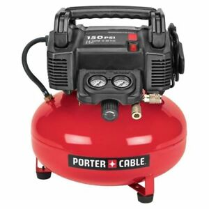 Porter cable 6 gallon Electric Pancake Air Compressor New 100