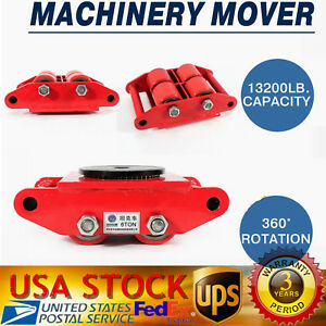 Industrial Machinery Mover 6t 13 200lb Dolly Skate 4 roller 360 Rotation Usa