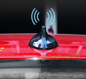 Real Carbon Fiber Roof Shark Fin Antenna Cover For Bmw X5 F15 X6 F16 2015 2018