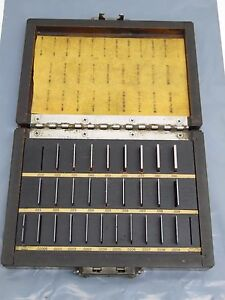 Starrett Webber Square Gage Block Set Ss28a1 Steel Read And Look At Pics