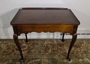 Statton Stratford Solid Cherry Tea Table Queen Anne Style End Side