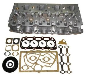 New Perkins 404c 22 Diesel complete Cylinder Head W Valves Full Gasket
