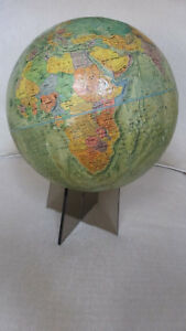 1973 Usa Repogle Readers Digest 12 Globe W Land Sea Relief 5 Acrylic Stand