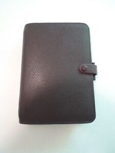 Filofax Personal Richmond Leather Planner With Many Inserts And Ruler