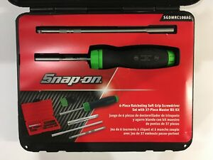 New Snap On Soft Grip Ratcheting Screwdriver Set Sgdmrc108ao green