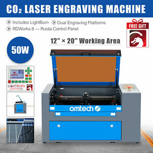 Upgraded 40w Co2 Laser Engraver Cutting Machine W Panel Control Usb Interface