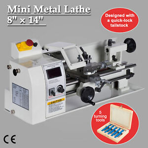 8 X 14 Mini Metal Lathe Machine Variable Speed Dc Motor Driven 600w