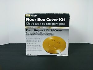 Brass Floor Box Cover Kit Hubbel Raco Fine Polished Brass Finish Brand New