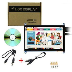 7 Inch 1024x600 Raspberry Pi 2 3 B Capacitive Touch Screen Hdmi Lcd Display