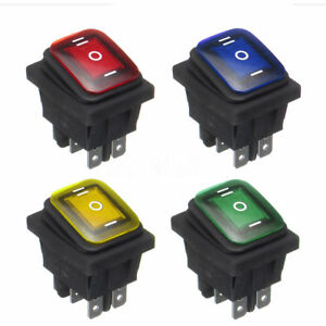 On Off On 6pin Dc12v Car Boat Led Light Rocker Toggle Switch Latching Waterproof