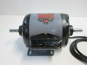Vintage Rockwell Delta 3 4 Hp 3450 Rpm Dual Shaft Electric Motor 62 253