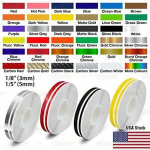 9 16 Roll Vinyl Pinstriping Pin Stripe Double Line Car Tape Decal Stickers 15mm