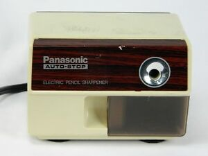 Vintage Kp 110 Panasonic Auto Stop Electric Pencil Sharpener Works Made Japan