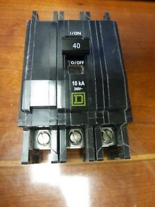 Square D 8615 043 Qo Circuit Breaker 40a 3 Poles 240v 50 60hz Qty 1 new