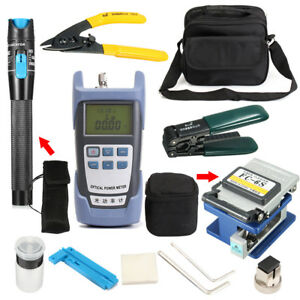 Fiber Optic Ftth Tool Kit Fc 6s Fiber Cleaver And 1mw Visual Fault Locator