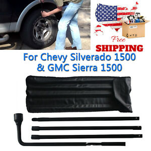 Spare Tire Lug Wrench Nut Jack Tool Kit For Chevrolet Gmc Sierra Cadillac Pickup