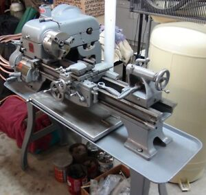 Logan Lathe 10 Inch 850 43 Bed With Many Tools And Parts used